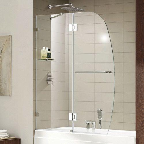 Aurora Lux 48 X 58 Pivot Tub Door Shower Doors Tub Shower