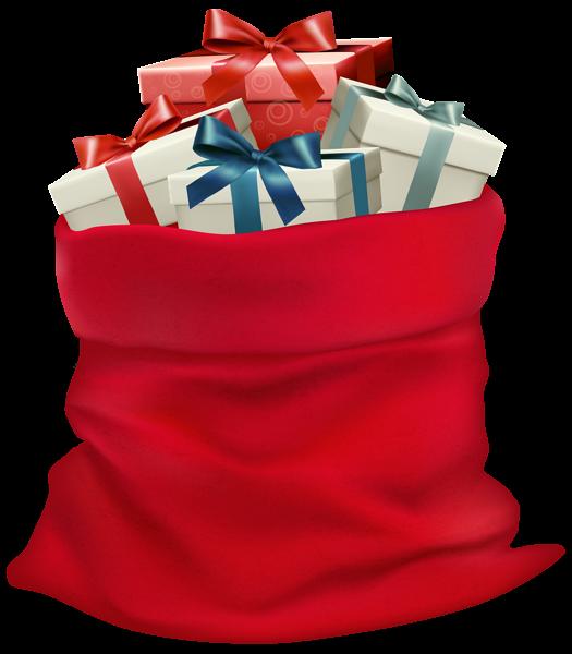 Christmas Sack With Gifts Png Clip Art Image Fotos De Familia De Natal Presentes Sacos