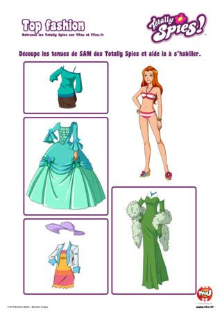 Silhouette Sam A Decouper Coloriages Totally Spies Coloriage Totally Spies Coloriage S Habiller