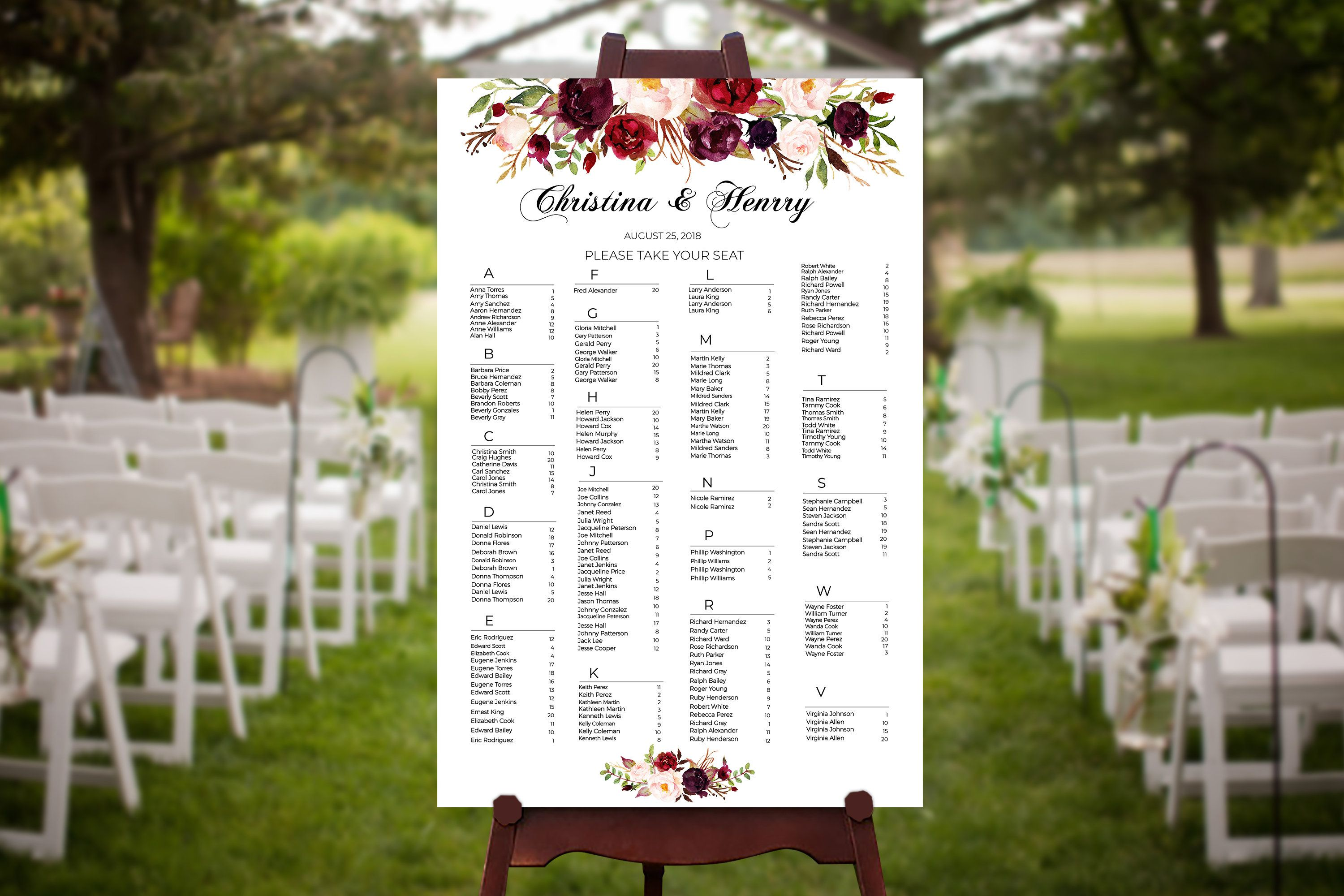 cubicle seating chart template