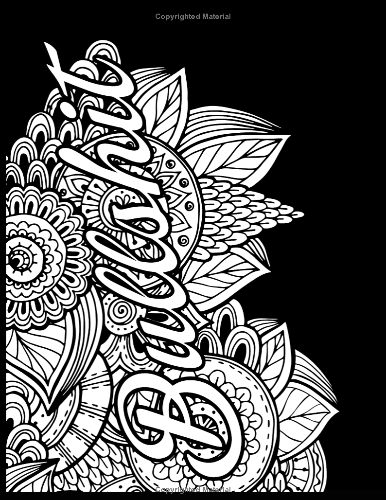 Frozen coloring pages amazon - Gyazo Amazon Com Release Your Anger Midnight Edition An Adult Coloring