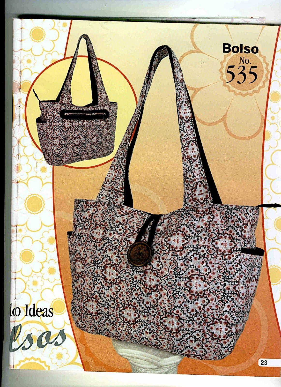Moldes de bolsos moldes de bolsos carteras mochilas - Bolsas de tela manualidades ...
