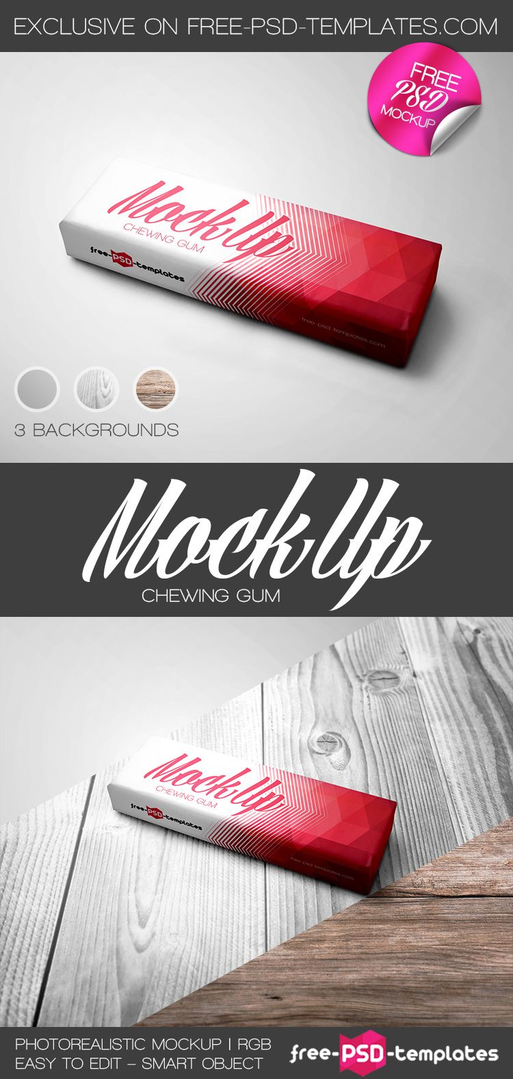 Free Chewing Gum Mock-up | Free Psd Templates | #free #photoshop ...