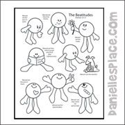 Recipe for Happiness Beatitudes Coloring Sheet for