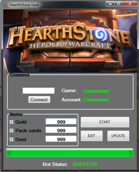 Hearthstone Hack – Unlimited Gold, Dust, Pack Cards Mac
