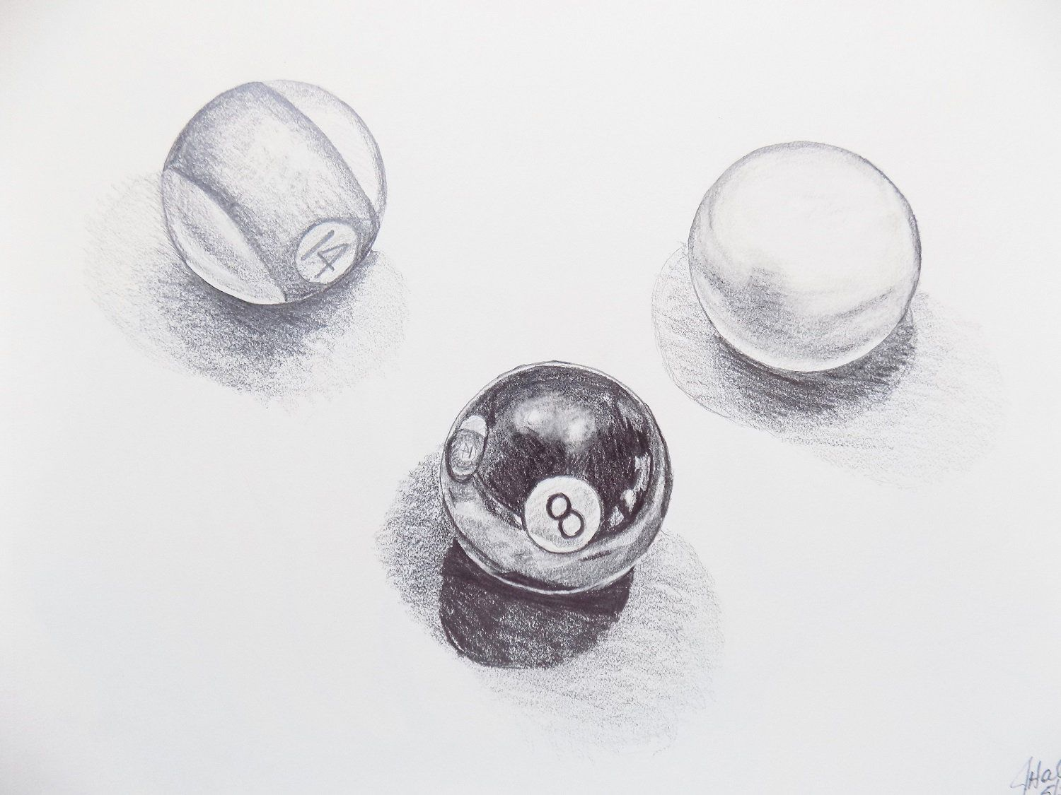 drawing pool graphite sold pencil ball sketches drawings
