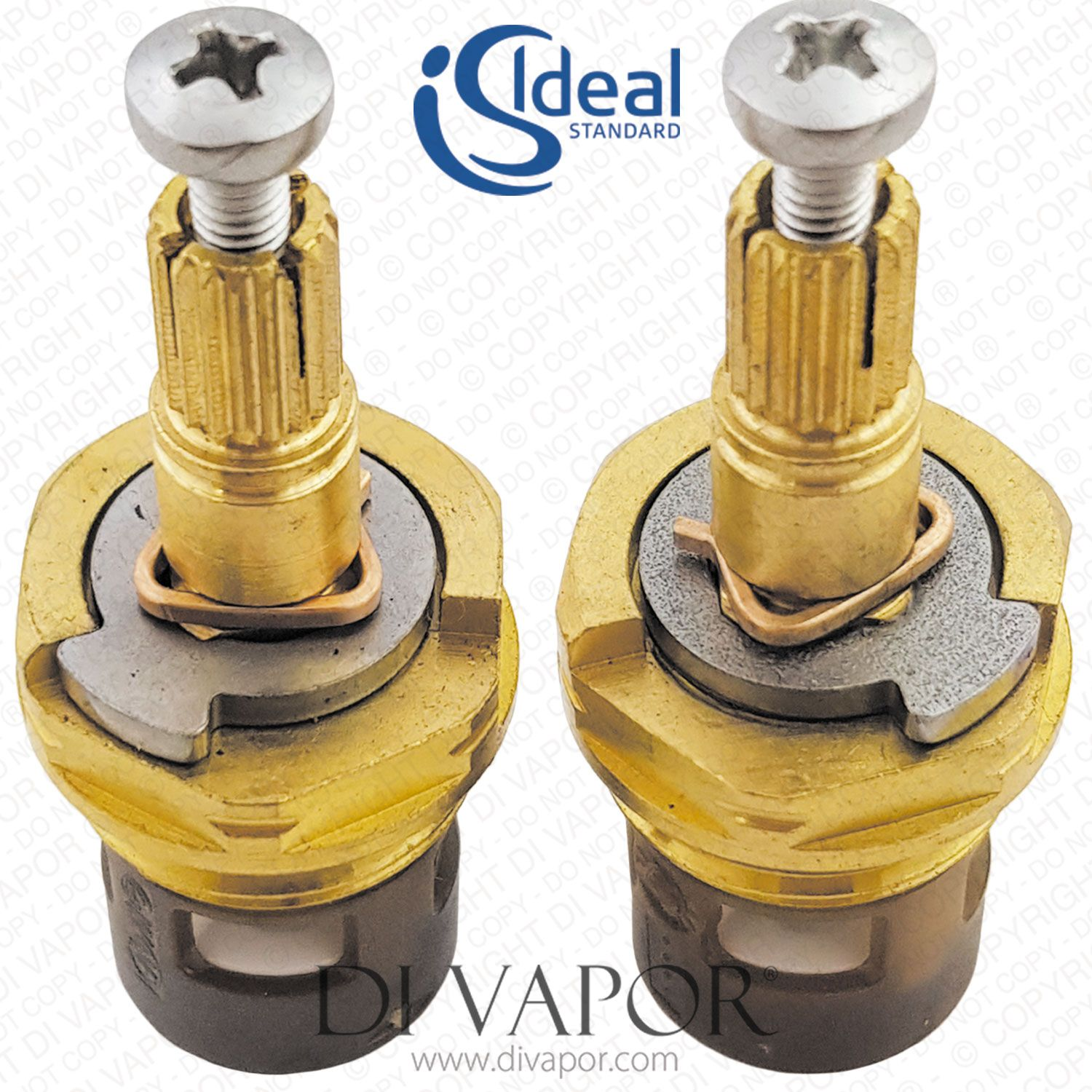 E002467 Pair Of Ideal Standard Trevi 1 2 Inch On Off Ceramic Disc Flow Cartridge For Taps And Shower Valves Shower Valve Ceramics Cartridges