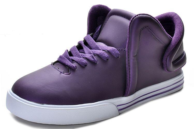 ba2ac799b347 Supra Falcon Mens Metallic Purple Leather White   56.59