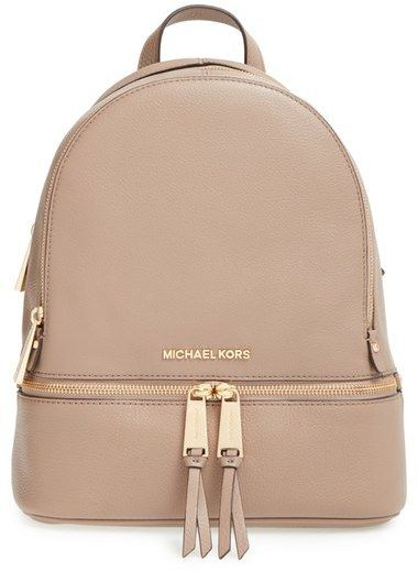 a342ebede1501b MICHAEL Michael Kors 'Extra Small Rhea Zip' Leather Backpack! https://