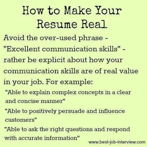 Resume Communication Skills Resume Job Aplication  Management  Pinterest