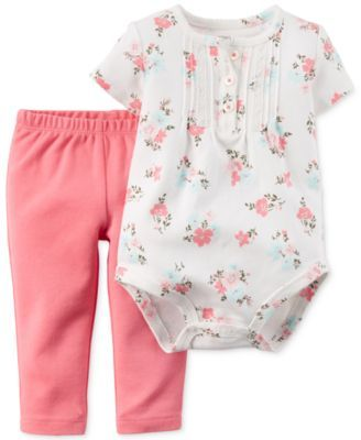 f6d9421b1ef1 Carter s Baby Girls  2-Piece Bodysuit   Pants Set 9 mos