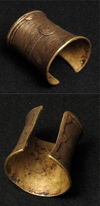 Africa   An old brass cuff from the Ivory Coast   150$