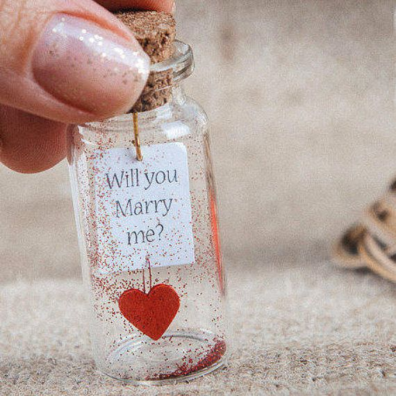 Personalized Engagement Gift Will You Marry Me Proposal