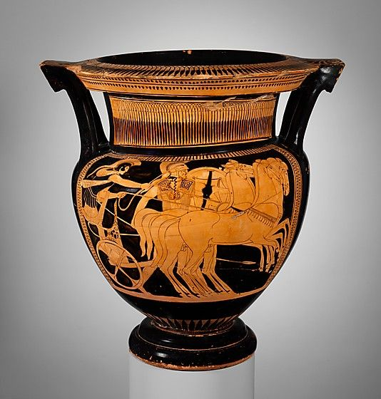 Terracotta column-krater (bowl for mixing wine and water)  Attributed to the Painter of Bologna 228   Period: Classical Date: ca. 460 B.C. Culture: Greek, Attic