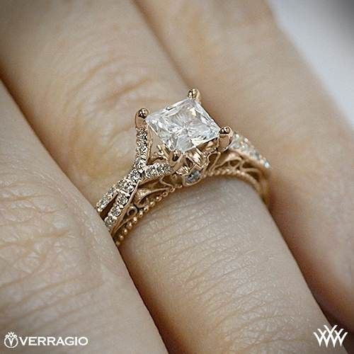 On hand view of Verragio Pave Twist Diamond Engagement Ring.. uh oh im due for a new ring