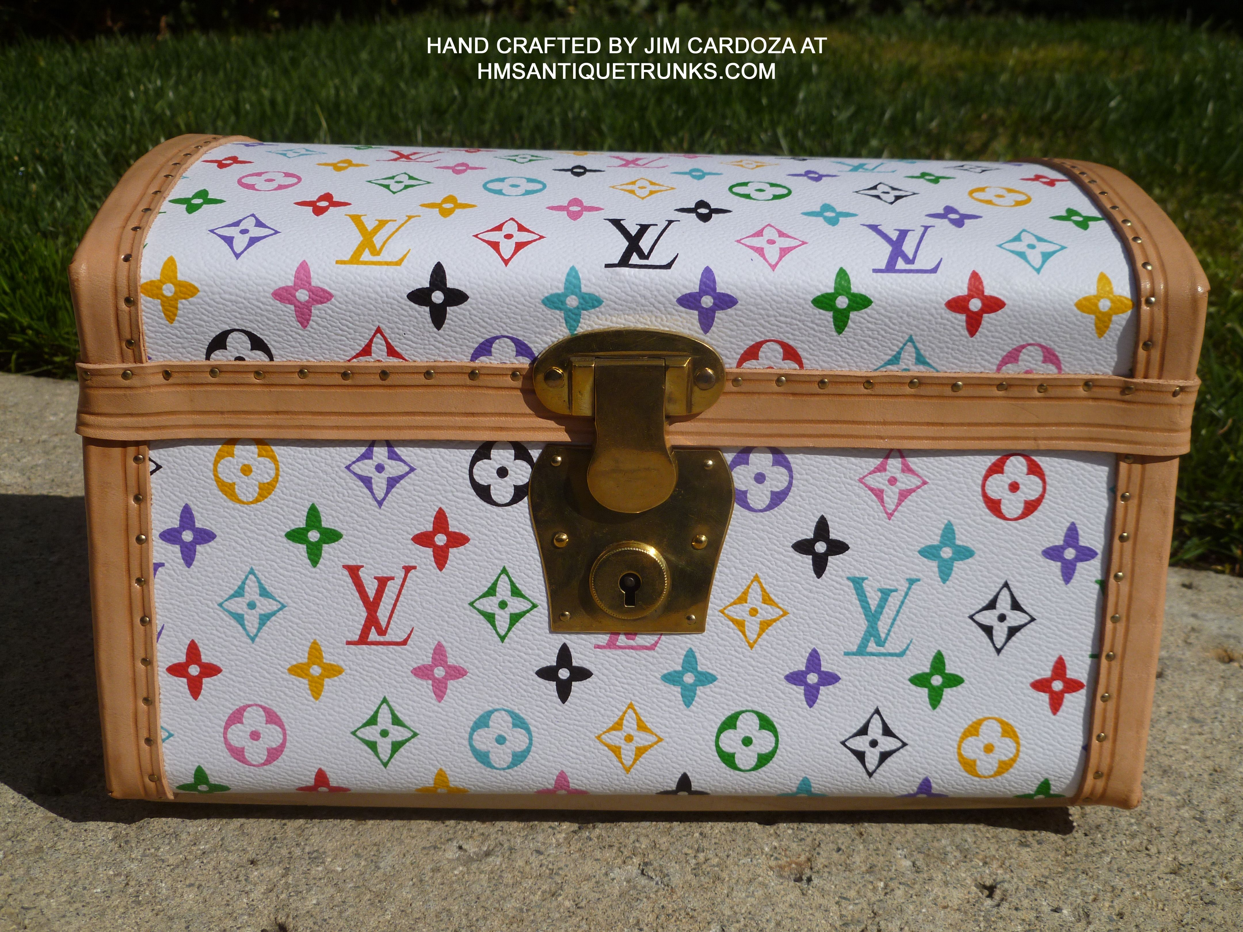 LOUIS VUITTON HOMAGE TRUNK HAND CRAFTED BY JIM CARDOZA AT HMSANTIQUETRUNKS.COM