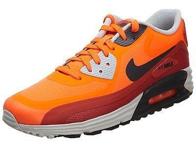 7fe82727c3 Nike Air Max Lunar 90 Wr Mens 654471-800 Orange Red Running Shoes Size 8.5