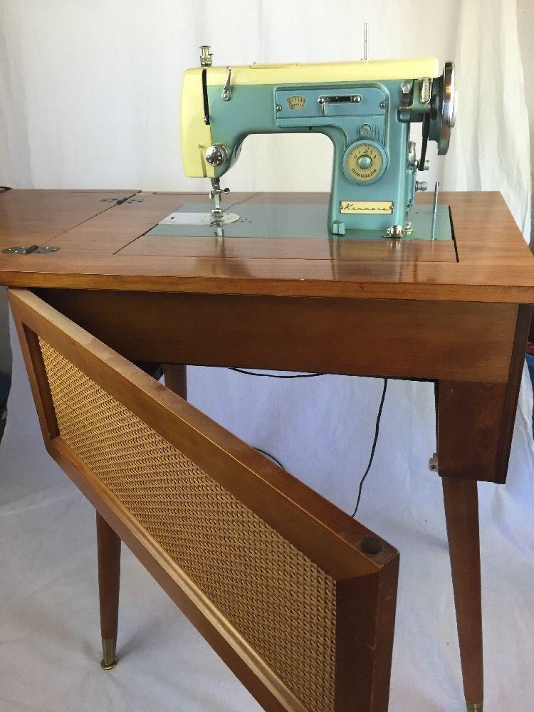 Vintage Sears Kenmore Sewing Machine : vintage, sears, kenmore, sewing, machine, Beautiful, Vintage, Sears, Kenmore, Zigzag, Sewing, Machine, Hideaway, Cabinet, Machine,, Machines,