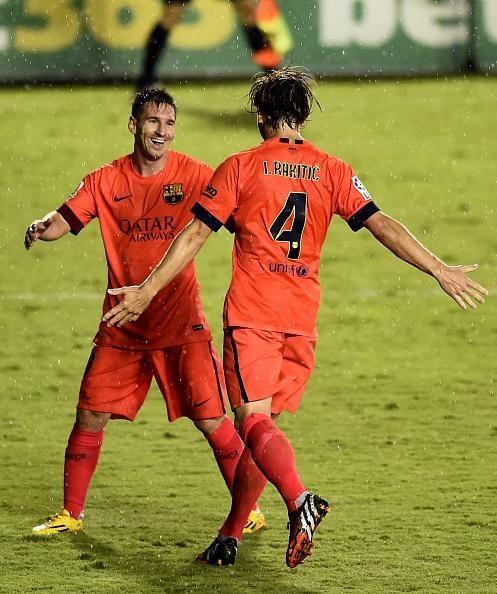 Messi and Rakitic / 140921 Levante 0 - 5 Barcelona / La Liga