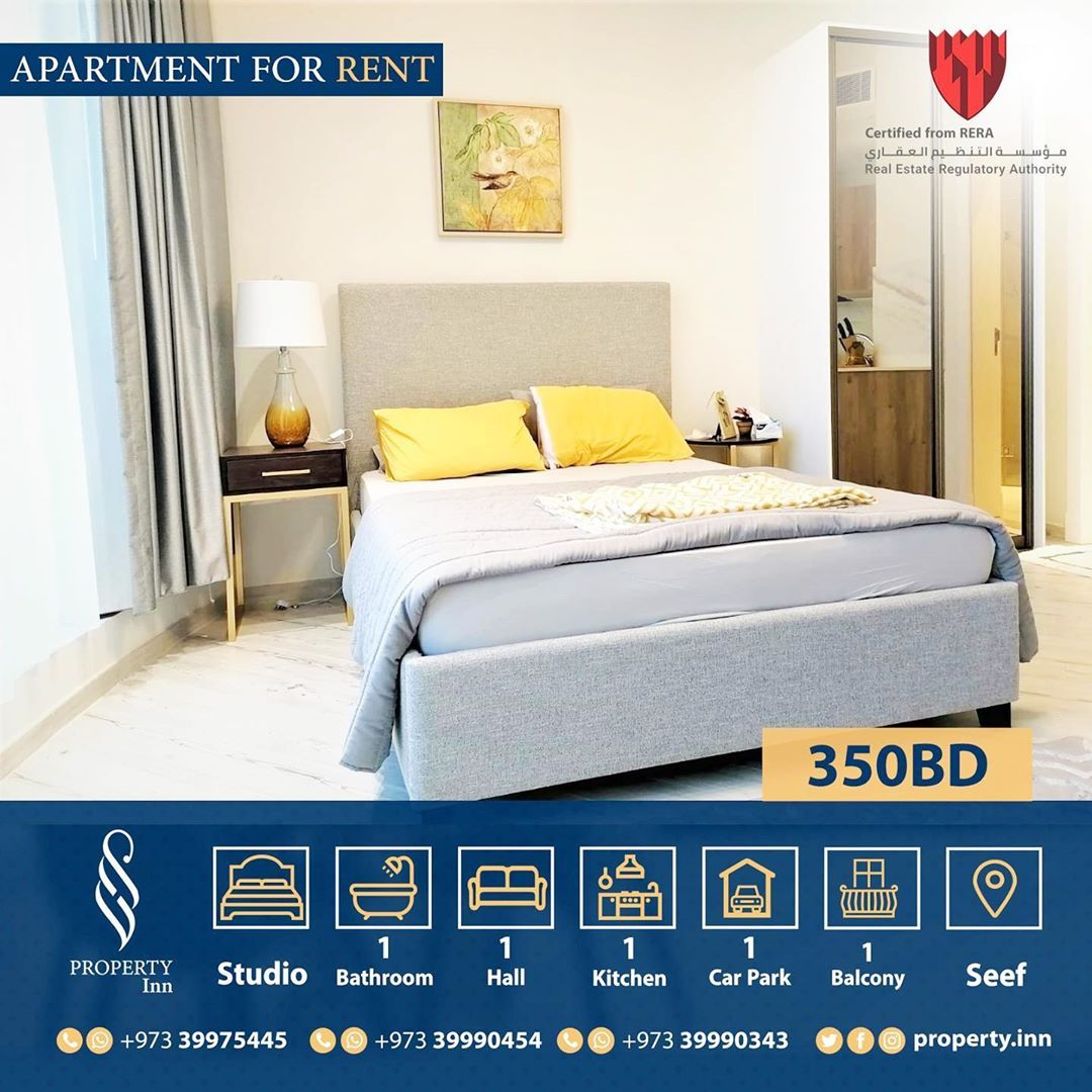 For Rent Fully Furnished Apartment In Seef Area In Manama Close To Bahrain City Center Seef Mall Th In 2020 Furnished Apartment Apartments For Rent Studio Apartment