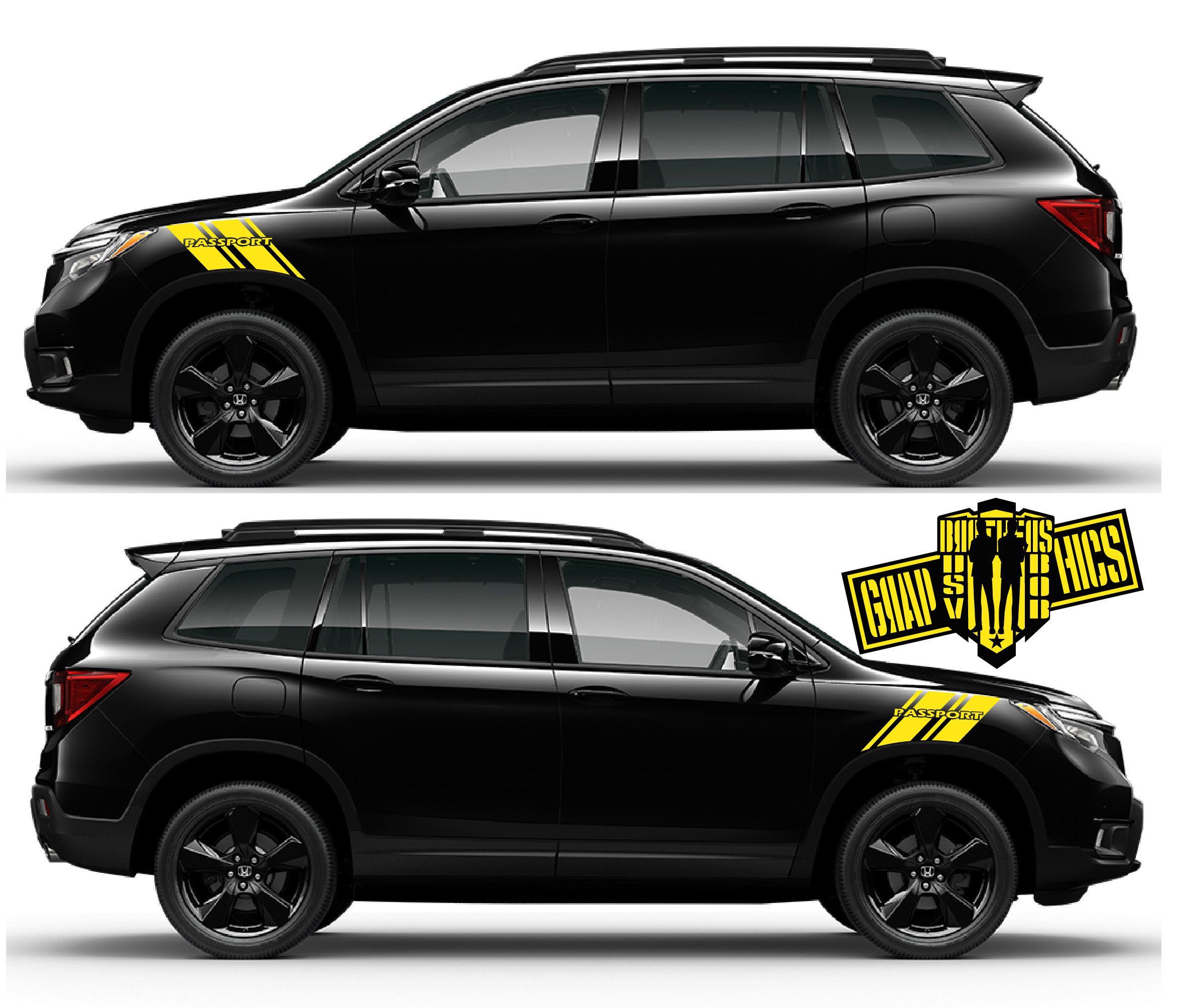 Sports Sticker Decal Side Door Stripes For Honda Passport Etsy In 2020 Honda Passport Racing Stickers Racing Stripes