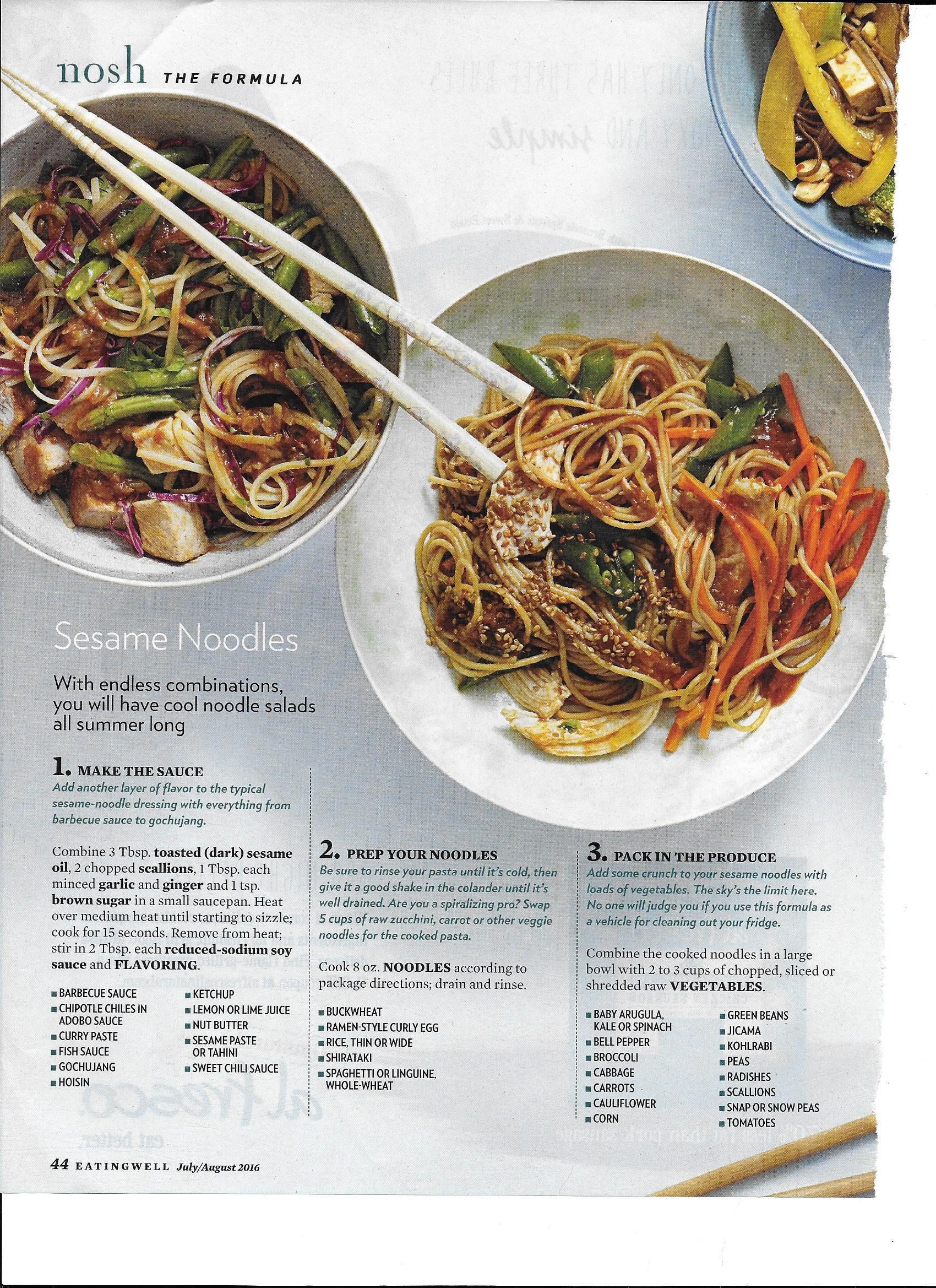 Sesame Noodles, 1 of 2 | RECIPES - Just for Me | Food, Sesame