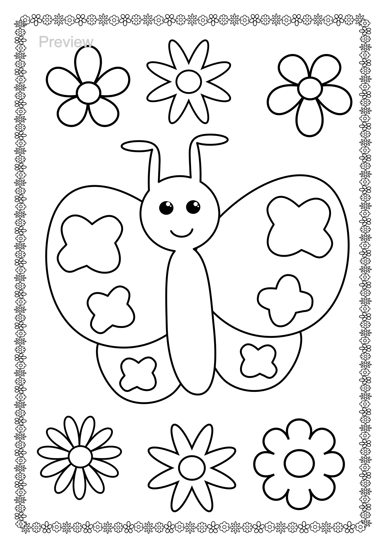 Pin By Nadine Blam On Coloring Pages Preschool Coloring Pages Coloring Books Butterfly Coloring Page [ 1750 x 1248 Pixel ]