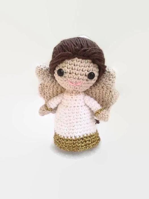 Little crochet angel, angel crochet, angel toy, wedding angel ...