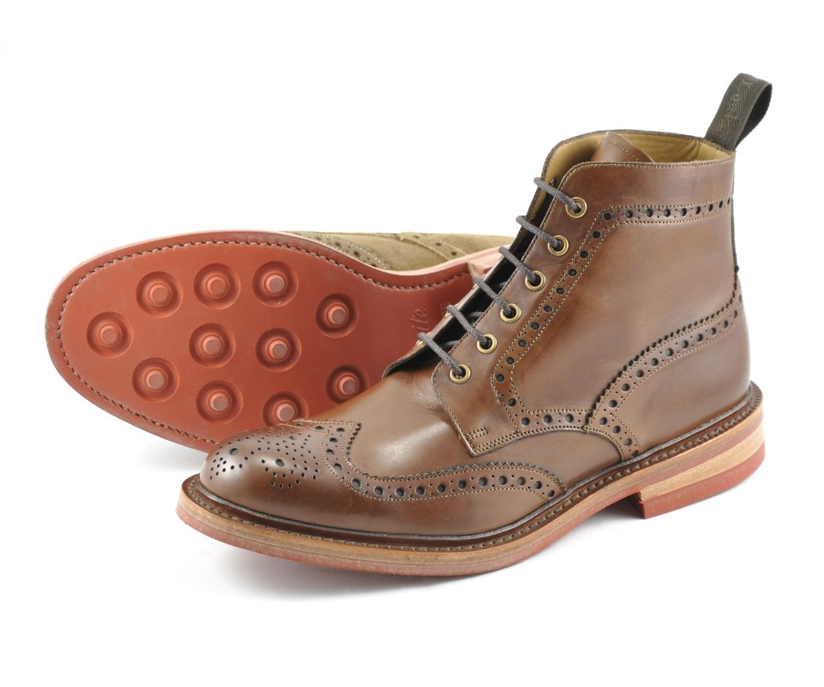 Mens Loake Leon Tan Leather Smart Slip On Shoes