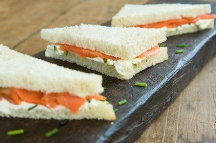 Smoked Salmon Sandwiches with Cream Cheese and Chives