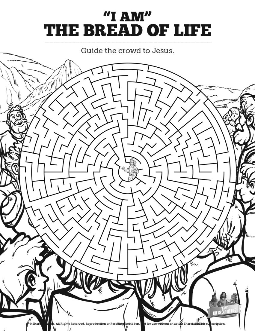 John 6 Bread Of Life Bible Mazes Drawing Off The Imagery Of John