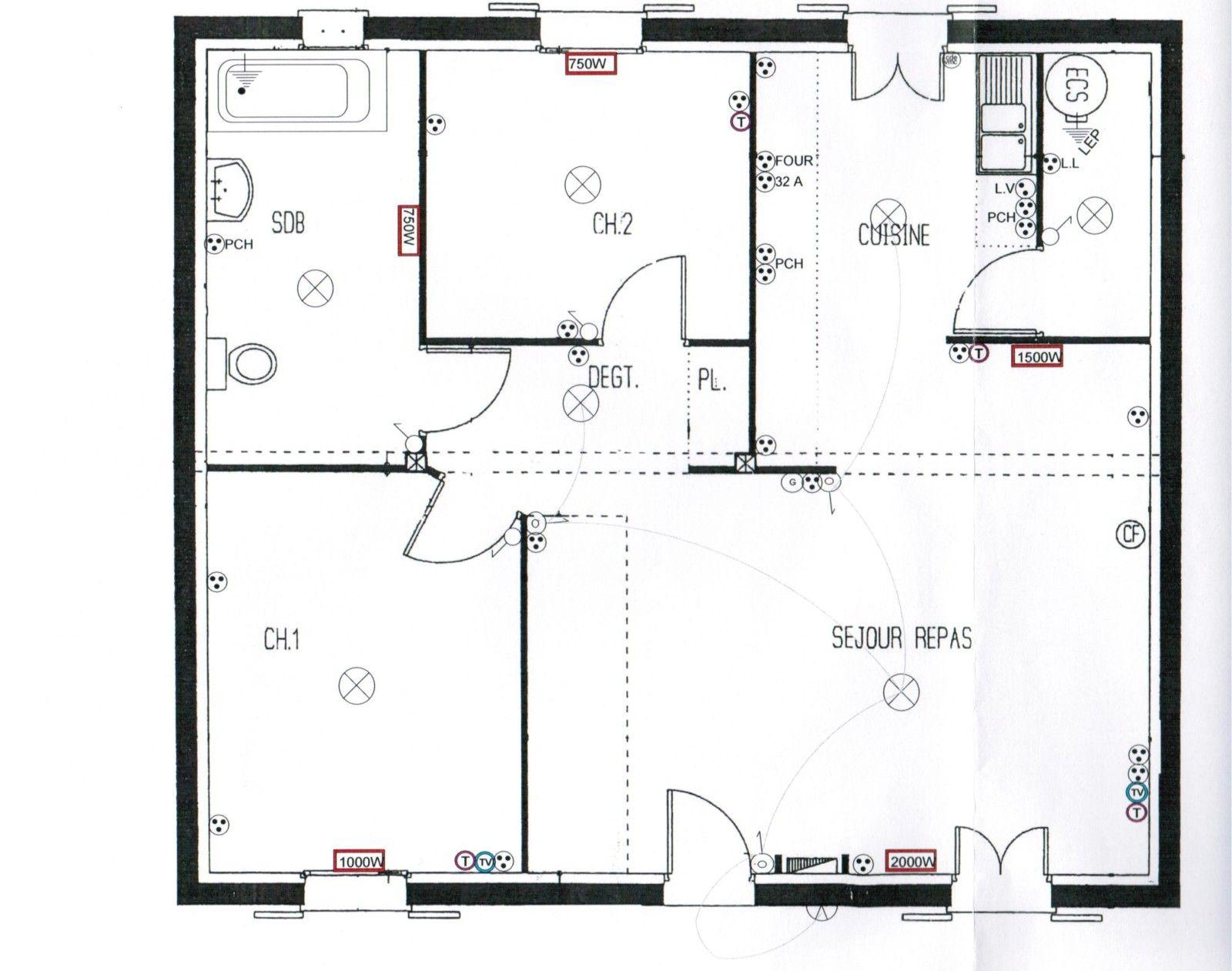 plan maison plain pied 3 chambres en u en 2020 | Maison plain pied, Plan maison plain pied, Plan ...