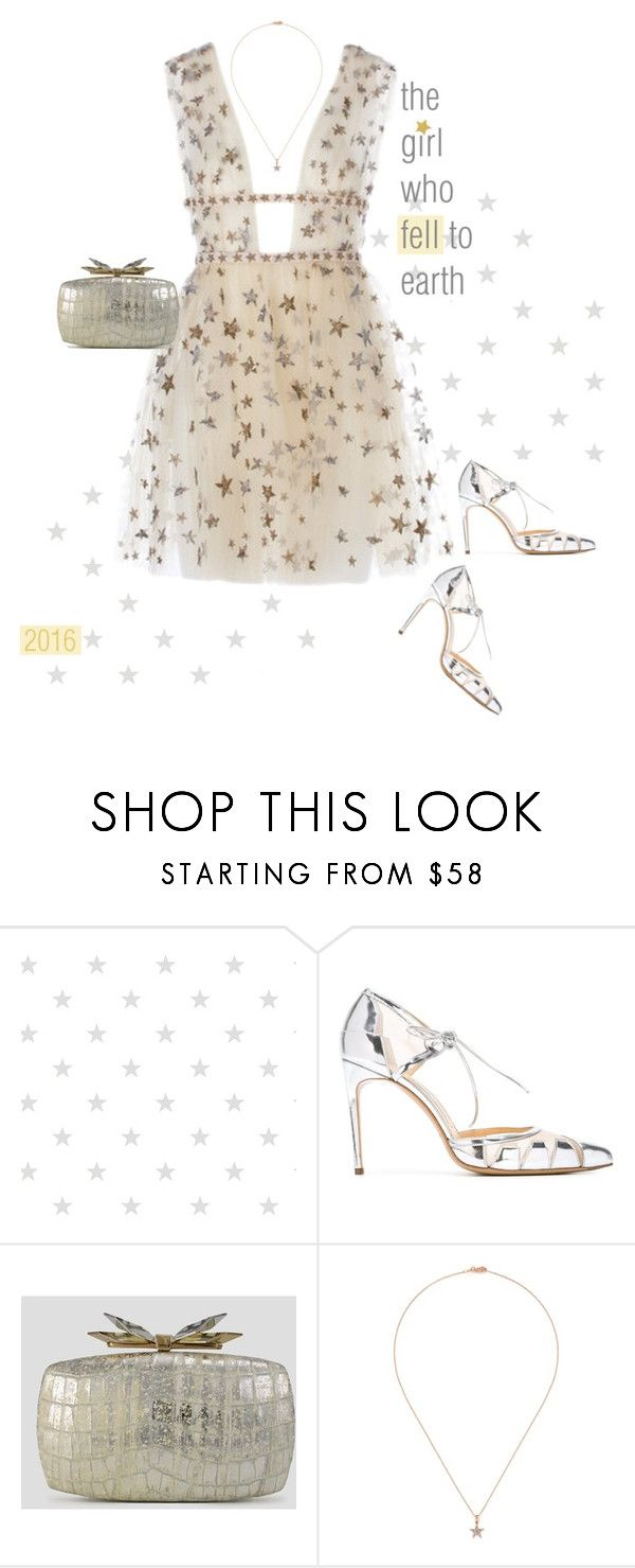 """""""Starry, Starry Night."""" by s-elle ❤ liked on Polyvore featuring Bionda Castana, Overture by Judith Leiber, Khai Khai and nyestyle"""
