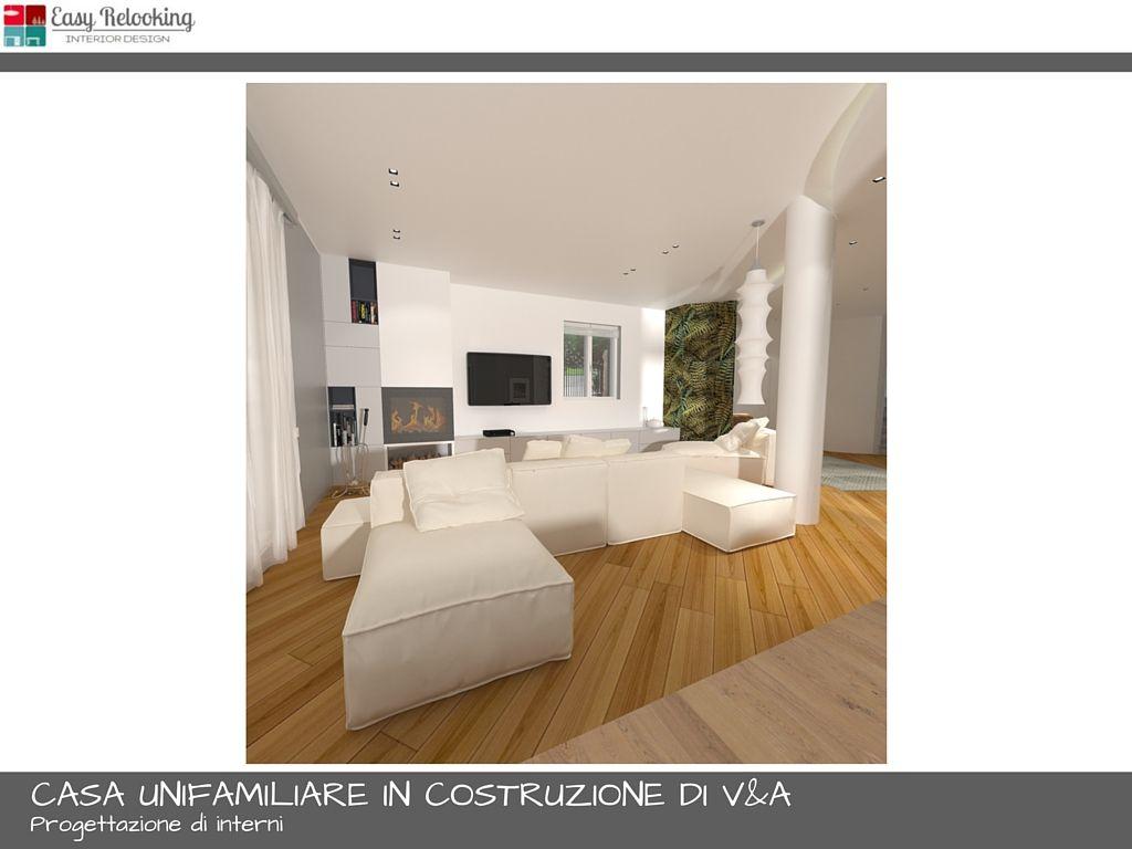 Progettazione soggiorno con cucina separata  Livingroom  Living Room