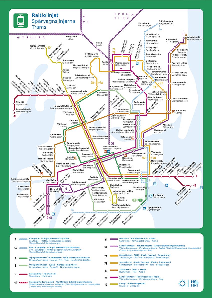 Route maps HSL Summer 2017 Pinterest Finland and Helsinki