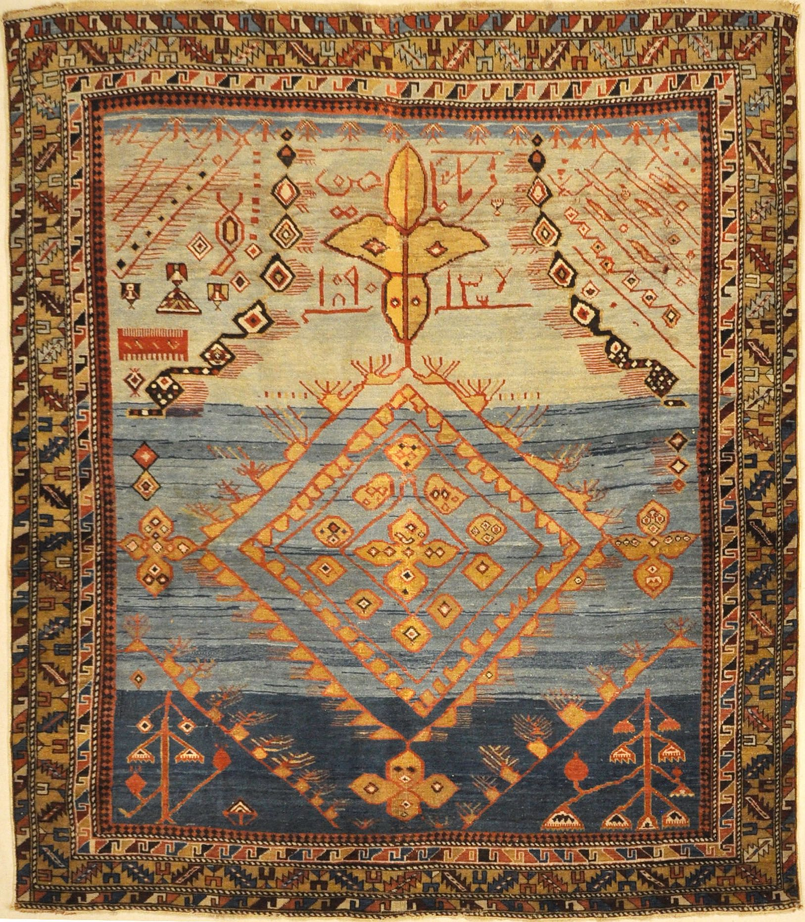 Rare Absolutely Unique Caucasian Shirvan Prayer Rug Santa Barbara Rugs Persian Rug Prayer Rug