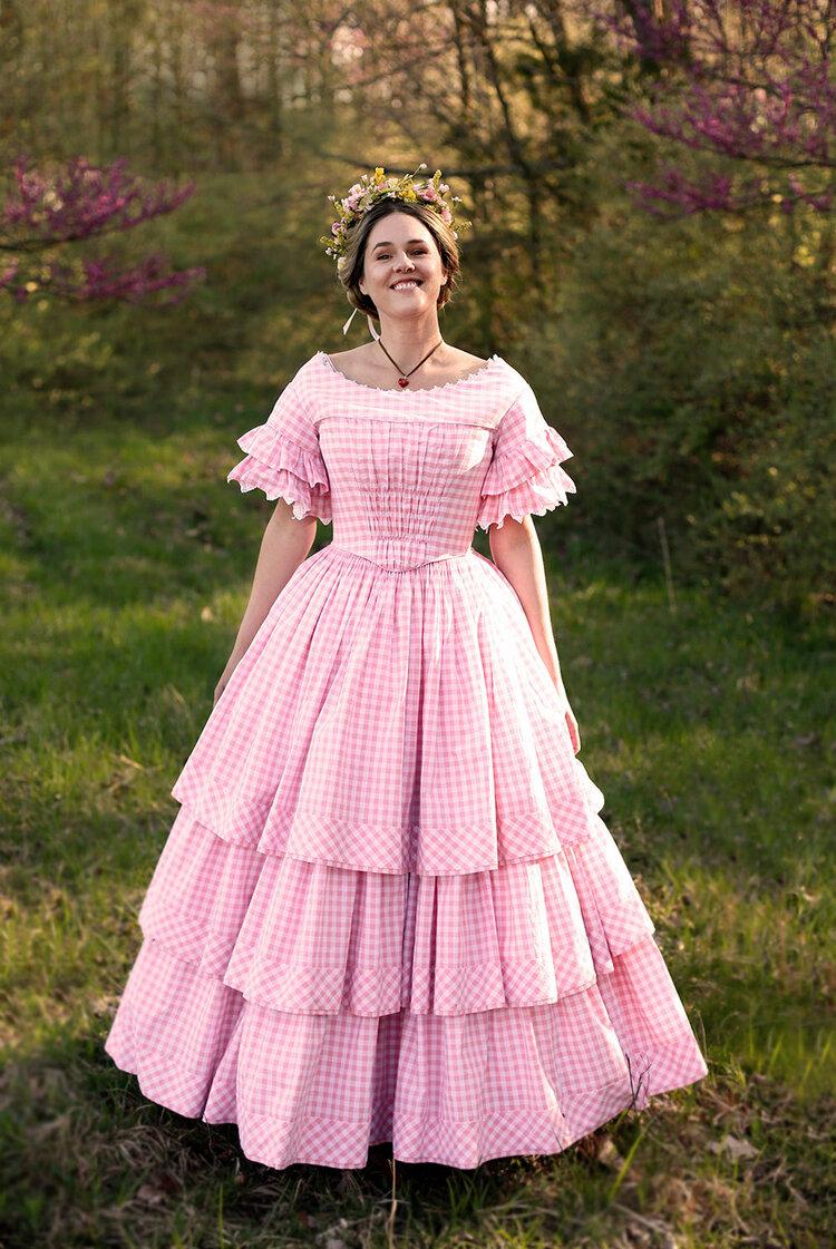 Perla Victorian Polonaise Bustle Dress Bustle Dress Victorian Clothing Victorian Costume [ 1528 x 1060 Pixel ]
