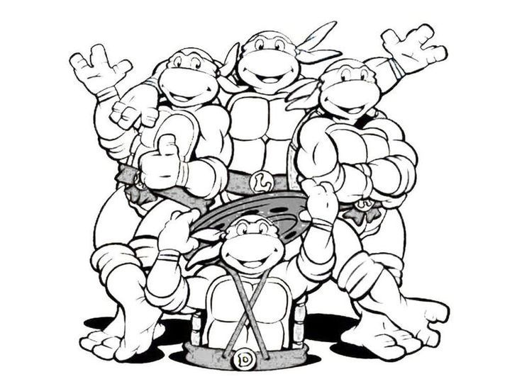 Desenho Colorir Tartaruga Ninja