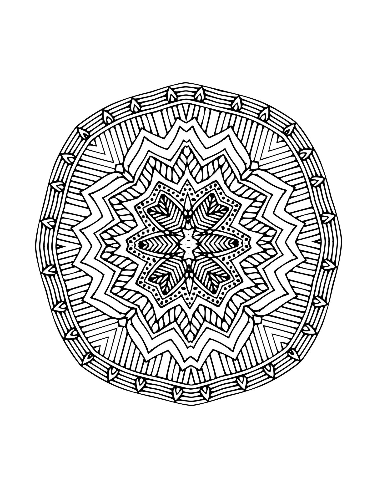 10 Mandala Coloring Sheets