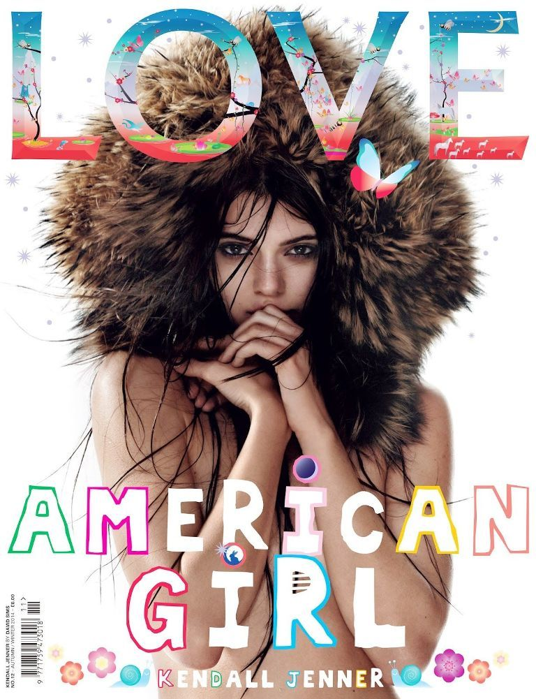 #KendallJenner by #DavidSims for the cover of #LoveMagazine F/W 2014-15