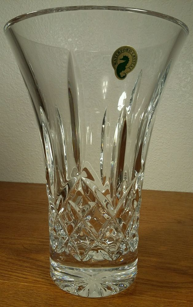 Waterford Crystal Lismore Flared Vase 8 Inch Exc W Original Stickers Wateford 8tallflaredvase Vases For Sale Waterford Crystal Vase