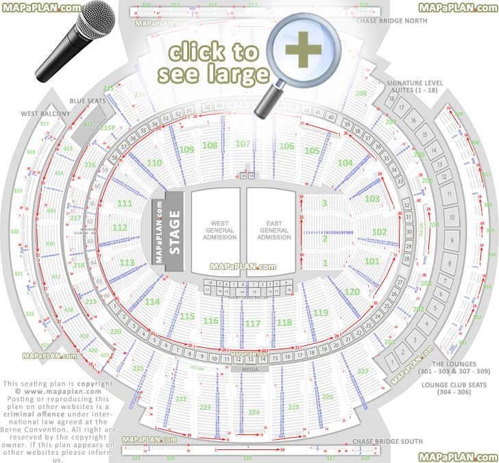 Madison Square Garden Seating Chart Concert General
