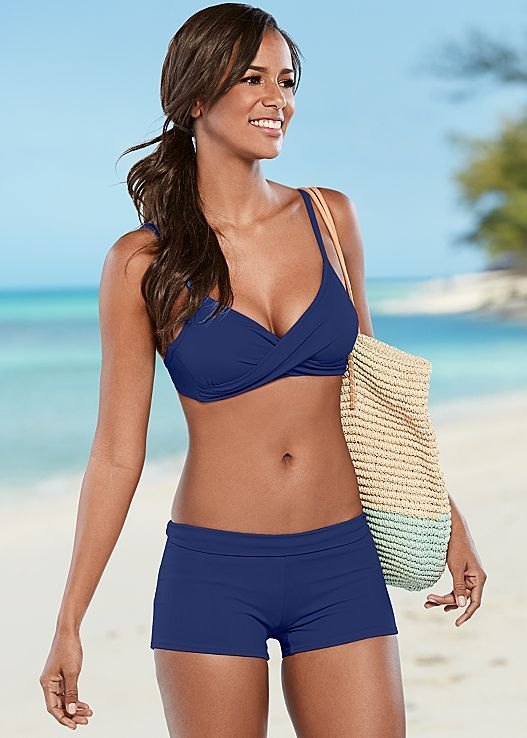 ccf680636d Spend your time outside in a sporty bikini! Venus caress sport top with Venus  swim short.