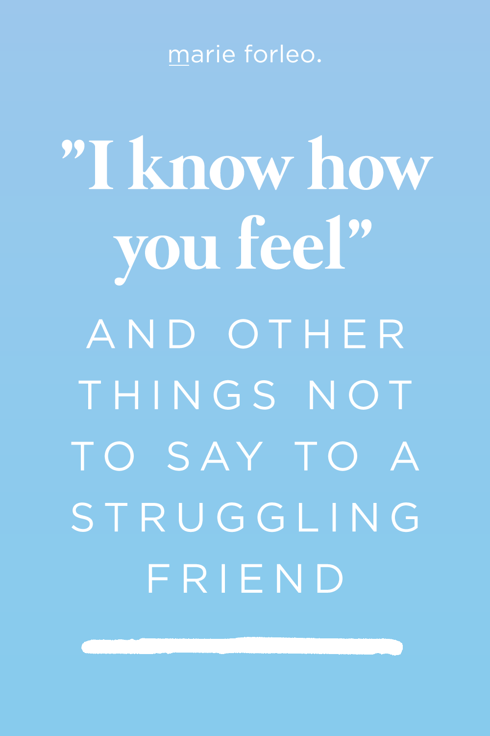 20 of The Best (and Worst) Words of Comfort Words of
