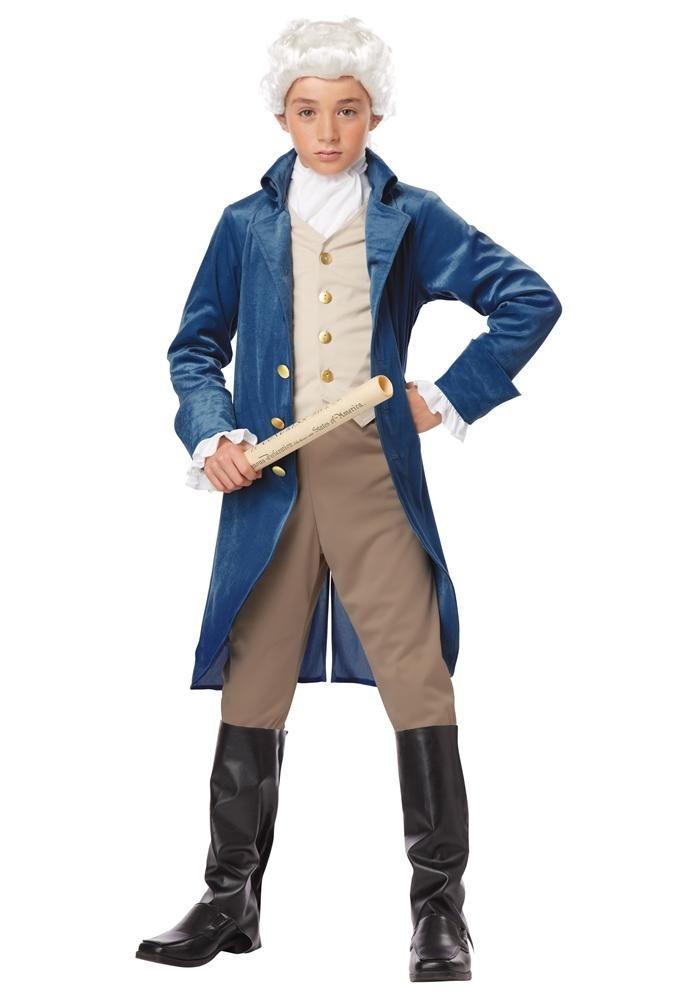 Trendy Halloween - #California Costume George Washington Child - school halloween costume ideas