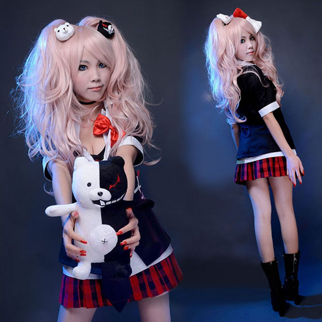 Details about cute junko enoshima cosplay costume