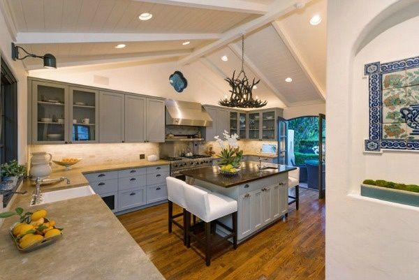 Jim Parsons Los Feliz home 2014 | Love the kitchen counter tops ...