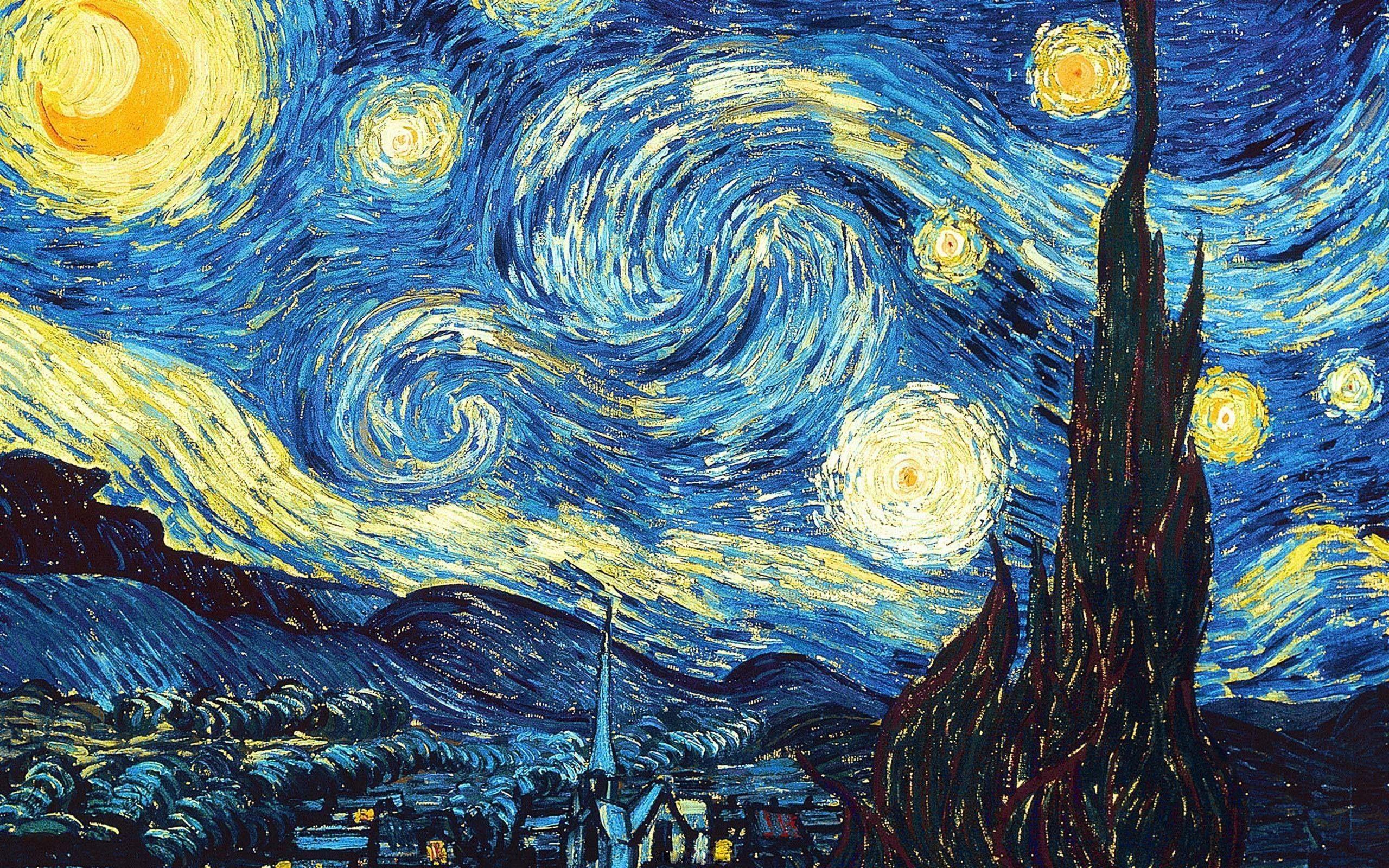 Inspirational Wallpaper 4k Van Gogh Starry Night Van Gogh Van Gogh Wallpaper Gogh The Starry Night