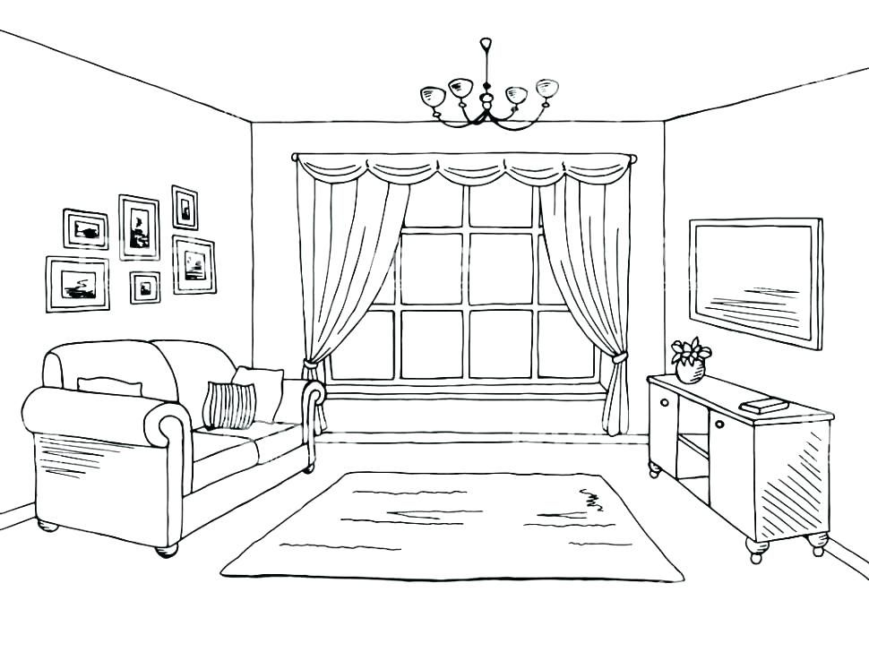 Image Result For Living Room Line Drawing With Images Interior