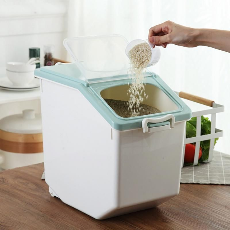 Plastic Sealed Moisture Proof Storage Box Kitchen Grain Rice Container Large Size Plastic Large Flour Storage Containers Flour Storage Flour Storage Container